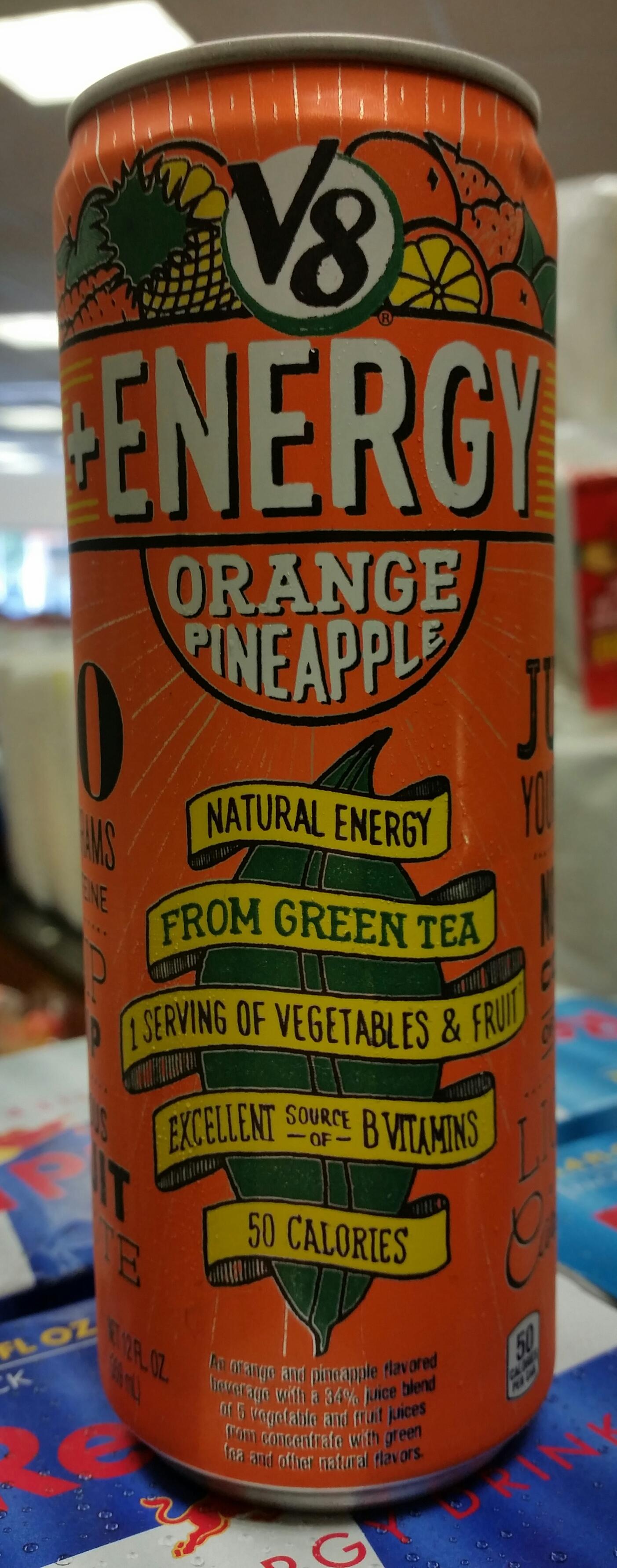 V8 Energy Review >> Thirsty Dudes V8 Energy Orange Pineapple