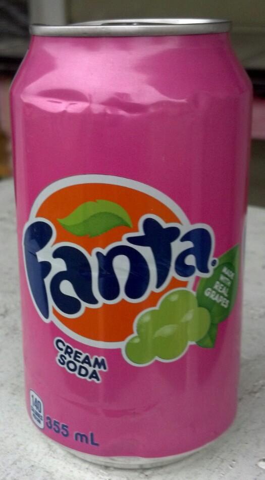 Can Cream Soda ~ Thirsty dudes fanta cream soda