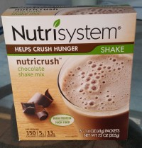 Nutrisystem Nutricrush Chocolate Shake Mix